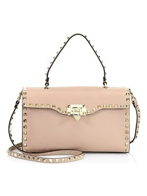VALENTINO Small Rockstud Leather Top-Handle Satchel