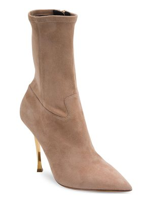VALENTINO Suede Point Toe Booties