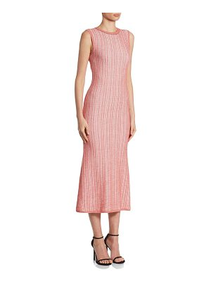 Victoria Beckham striped crewneck midi dress