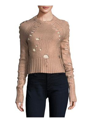 ZOE JORDAN Euler Distressed Sweater