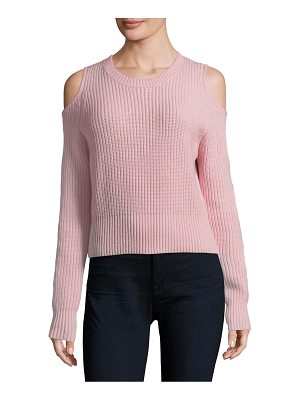 Zoe Jordan galen cold-shoulder crop sweater