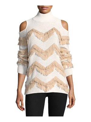 ZOE JORDAN High Hawking Fringed Sweater