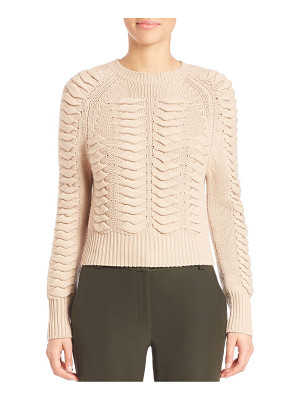 Zoe Jordan volta wool & cashmere textured sweater