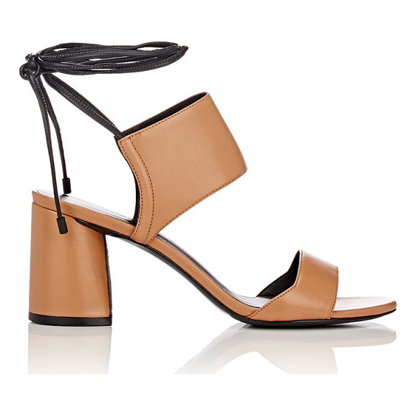 3.1 PHILLIP LIM Drum ankle-tie sandals-nude - Exclusively Ours! 3.1 Phillip Lim's tan smooth leather Drum...
