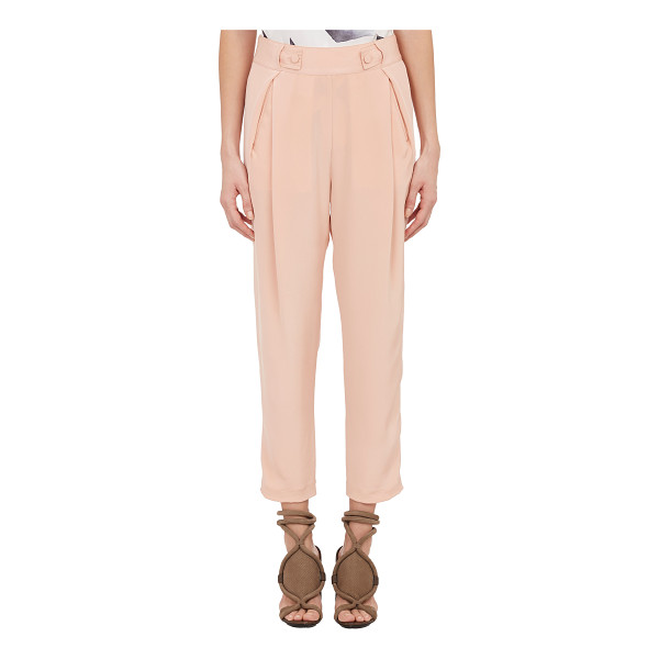 3.1 PHILLIP LIM Pleated crepe de chine trousers-pink - 3.1 Phillip Lim peach silk crêpe de Chine pleated trousers...