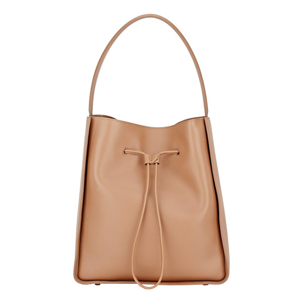 3.1 PHILLIP LIM Soleil large bucket bag-brown - 3.1 Phillip Lim camel grained leather Soleil large bucket...