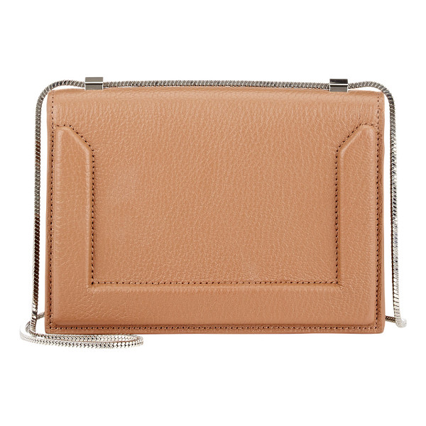3.1 PHILLIP LIM Soleil mini shoulder bag-brown - 3.1 Phillip Lim camel grained goatskin Soleil mini shoulder...