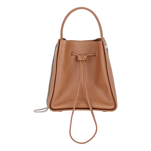 3.1 PHILLIP LIM Soleil small bucket bag-brown - 3.1 Phillip Lim camel grained leather Soleil small bucket...