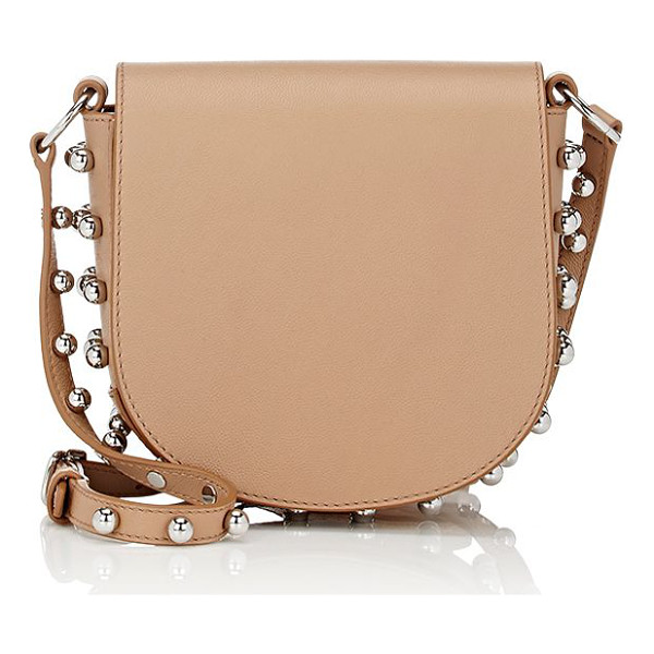 ALEXANDER WANG Lia mini-bag-nude - Crafted of beige smooth and caviar-grained leather,...