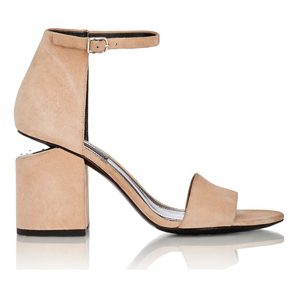 ALEXANDER WANG Suede abby sandals-nude - Alexander Wang Sand (beige) suede Abby ankle-strap sandals...