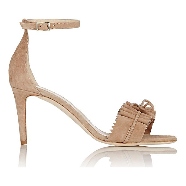 ALEXANDER WHITE Eva suede ankle-strap sandals-nude - Alexander White's beige Eva ankle-strap sandals are styled...