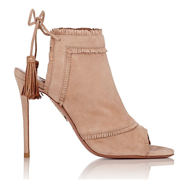 AQUAZZURA Colorado back-tie ankle boots-tan - Exclusively Ours! Aquazzura Biscotto (beige) suede Colorado...
