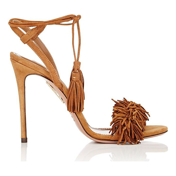 AQUAZZURA Wild thing sandals-brown - Crafted of cognac suede, Aquazzura's Wild Thing sandals are...