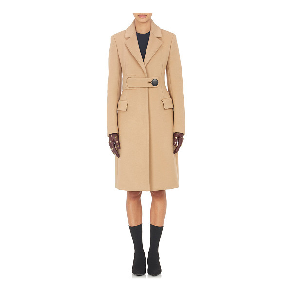 BALENCIAGA Belted melton coat-nude - From Balenciaga's Pre-Fall 2015 collection, a camel...