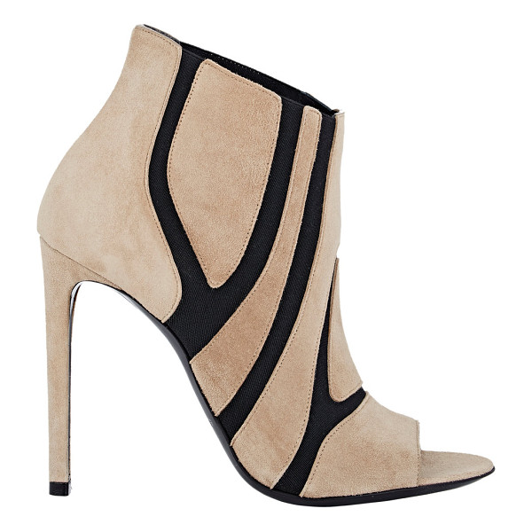 BALENCIAGA Suede & elastic ankle boots-colorless - Crafted of camel suede, Balenciaga's peep-toe ankle boots...