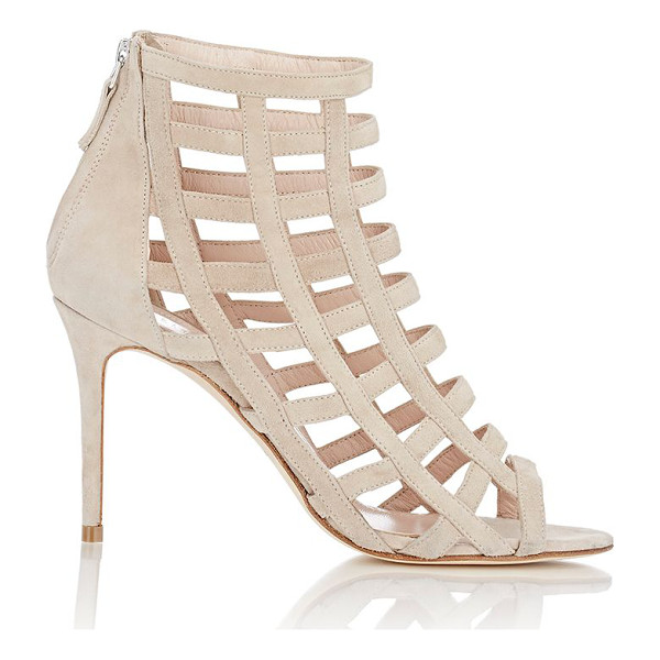 BARNEYS NEW YORK Caged sandals-nude - Exclusively Ours! Barneys New York Bisque (beige) suede...