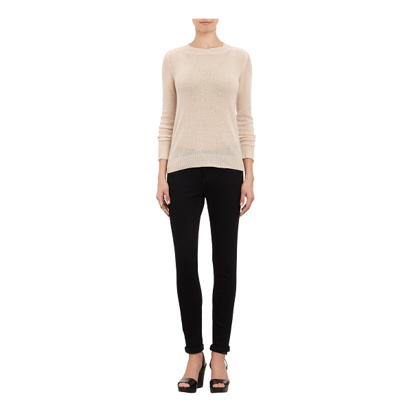 BARNEYS NEW YORK Cashmere loose-knit sweater-nude - Exclusively Ours! Barneys New York cream Loro Piana...