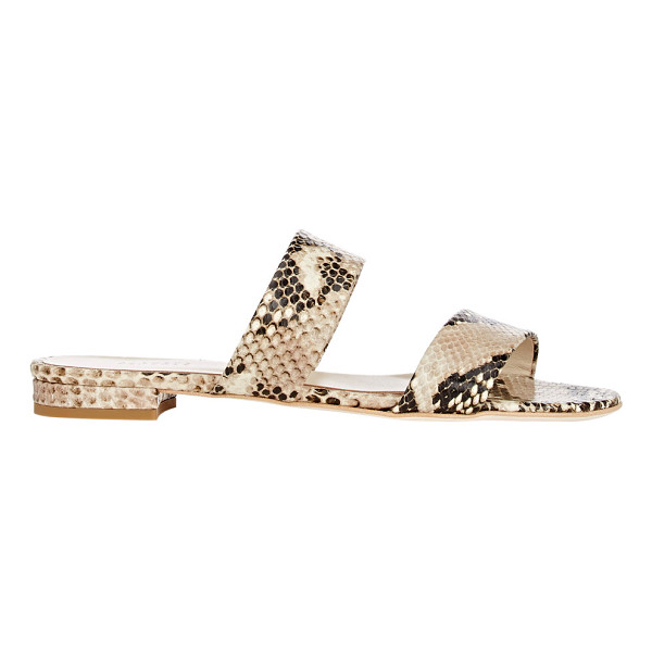 BARNEYS NEW YORK Double-band slides-nude - Exclusively Ours! Barneys New York Roccia (grey and black)...