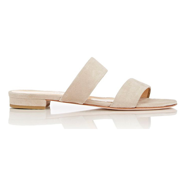 BARNEYS NEW YORK Double-band slides-nude - Exclusively Ours! Barneys New York sand (beige) suede...
