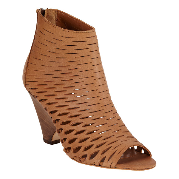 BARNEYS NEW YORK Cutout ella ankle boots-nude - Exclusively Ours! Barneys New York camel leather open-toe...