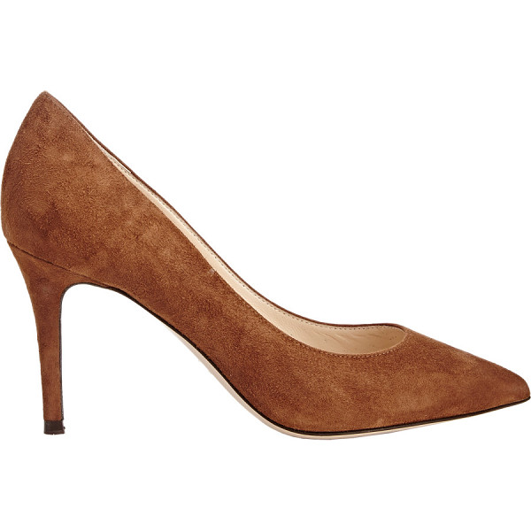 BARNEYS NEW YORK Nataly point-toe pumps-brown - Exclusively Ours! Barneys New York cognac suede Nataly...