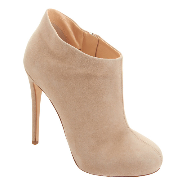 BARNEYS NEW YORK Short platform ankle boot-nude - Exclusively Ours! Barneys New York beige suede ankle boots...