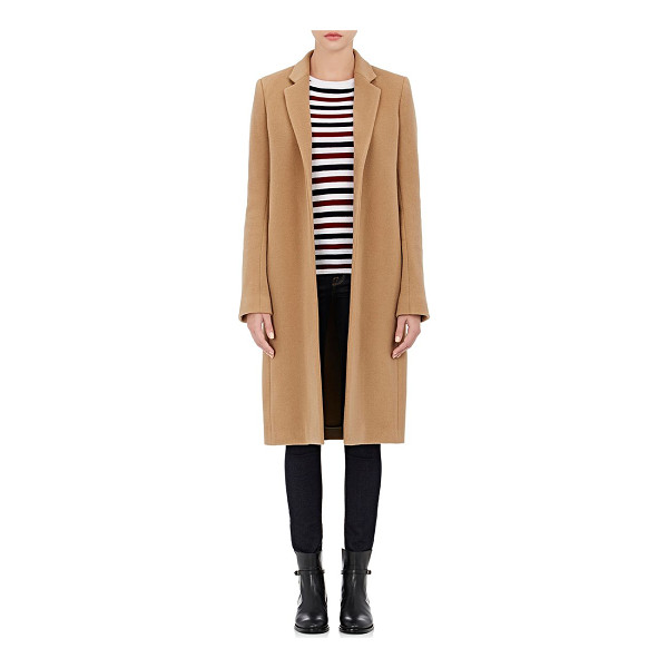 BARNEYS NEW YORK Wool-cashmere melton car coat-tan - Barneys New York's car coat is composed of camel brushed...