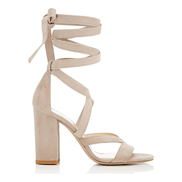 BARNEYS NEW YORK Zea ankle-wrap sandals-nude - Exclusively Ours! Barneys New York beige suede Zea sandals...