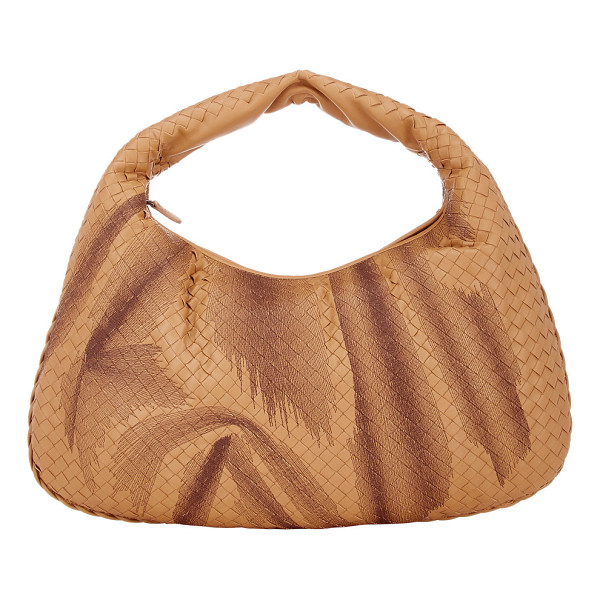 BOTTEGA VENETA Intrecciato large hobo-nude - Crafted of camel nappa leather woven in the house's...