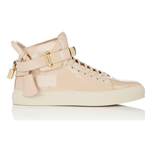 BUSCEMI 100mm new button patent leather sneakers-tan - Exclusively Ours! Buscemi's beige patent leather 100MM New...