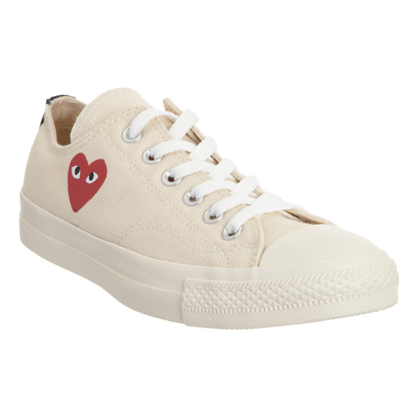 CDG PLAY Chuck taylor low-top sneakers-cream, white - Comme des Garçons PLAY x Converse cream canvas low-top...