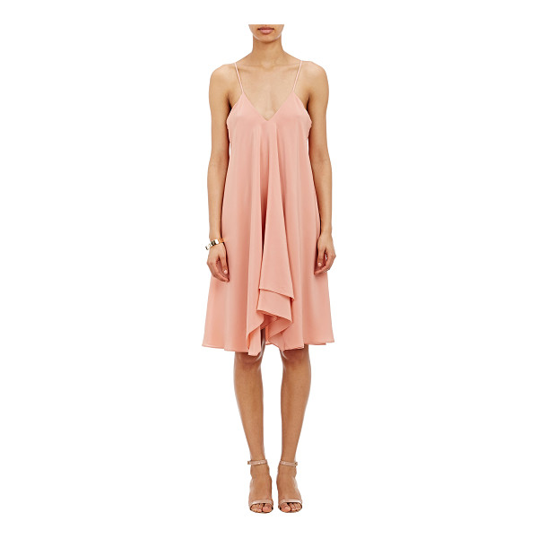 CEDRIC CHARLIER Layered camisole dress-pink - Cedric Charlier's pink silk layered crêpe de Chine camisole...