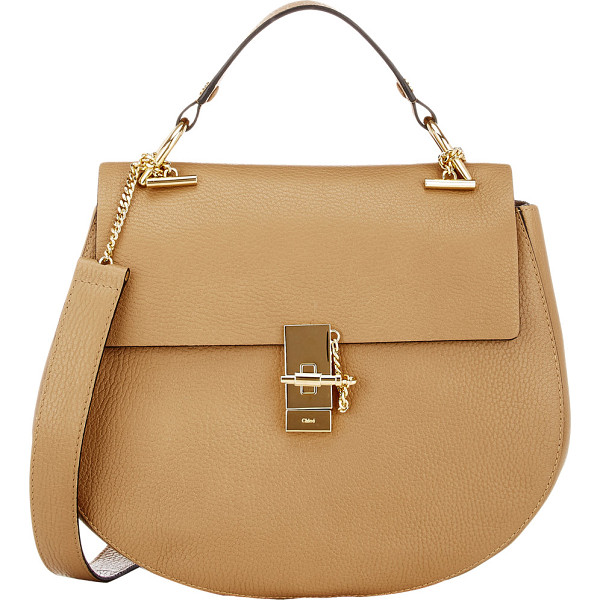 CHLOE Drew medium shoulder bag-colorless - Chloe Chestnut Cream grained leather Drew medium shoulder...