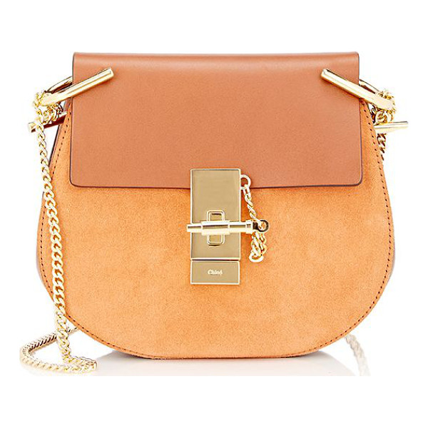 CHLOE Drew mini-crossbody-brown - Chloé Caramel smooth leather Drew mini-crossbody bag styled...