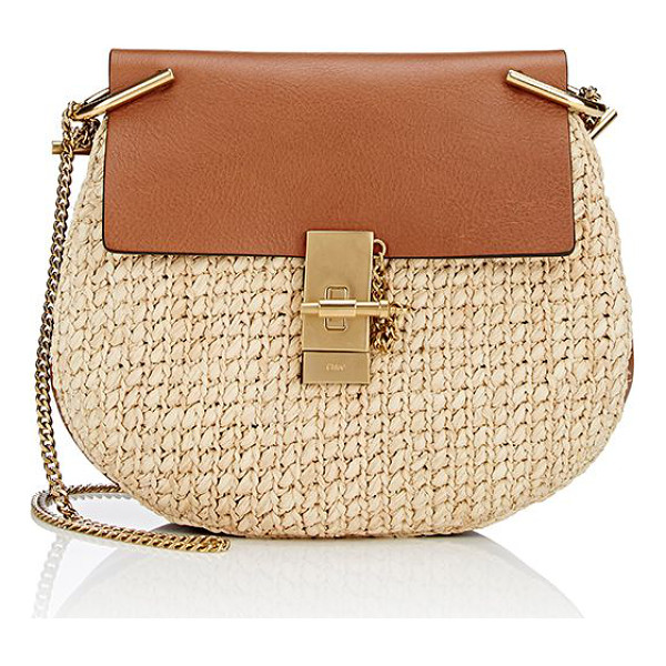 CHLOE Drew small crossbody-brown, nude - Crafted of brown grained leather, Chloé's Drew small...