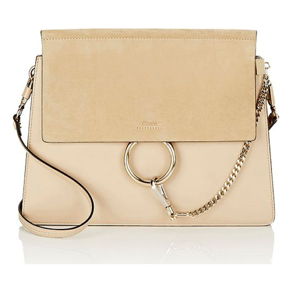 CHLOE Faye medium shoulder bag-beige - Chloé beige smooth calfskin Faye medium shoulder bag styled...