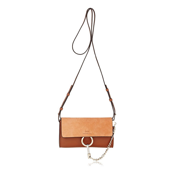 CHLOE Faye mini-bag-brown - Chloé's brown smooth leather Faye mini-bag is styled with a...