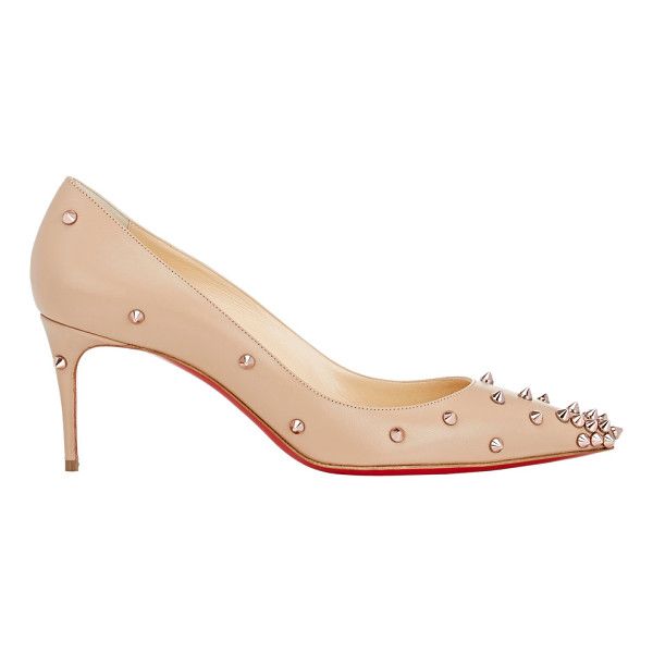 CHRISTIAN LOUBOUTIN Degraspike pumps-nude - Christian Louboutin beige blush kidskin pointed-toe...