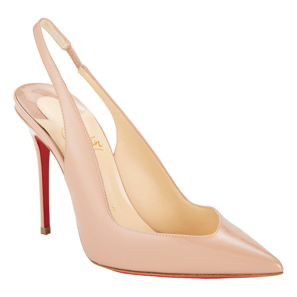 CHRISTIAN LOUBOUTIN Fleuve slingback pumps-nude - Crafted of Sand patent leather, Christian Louboutin's...