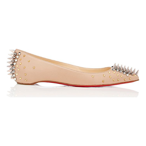 "CHRISTIAN LOUBOUTIN ""goldoflat"" flats-nude - Crafted of beige nappa leather, Christian Louboutin's..."