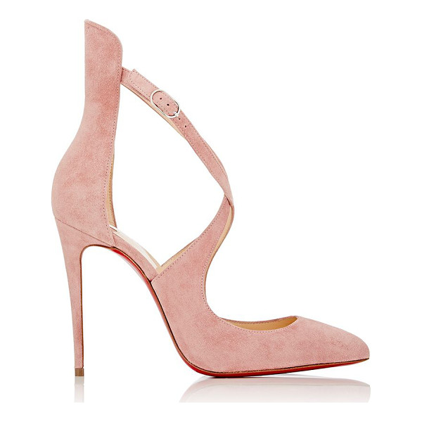 CHRISTIAN LOUBOUTIN Marlenarock pumps-pink - Crafted of Ronsard (rose) suede, Christian Louboutin's...