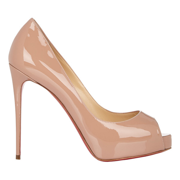 CHRISTIAN LOUBOUTIN New very prive pumps-nude - Crafted of beige blush patent leather, Christian...