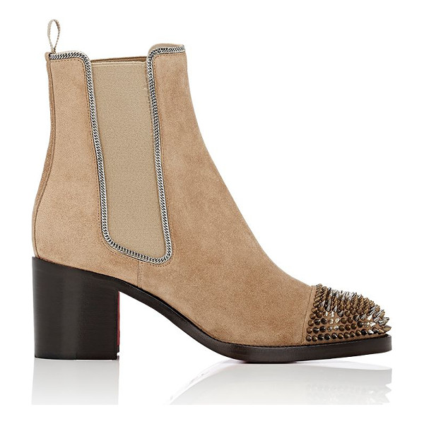 CHRISTIAN LOUBOUTIN Otaboo suede chelsea boots-tan - Crafted of camel ultra-soft suede, Christian Louboutin's...