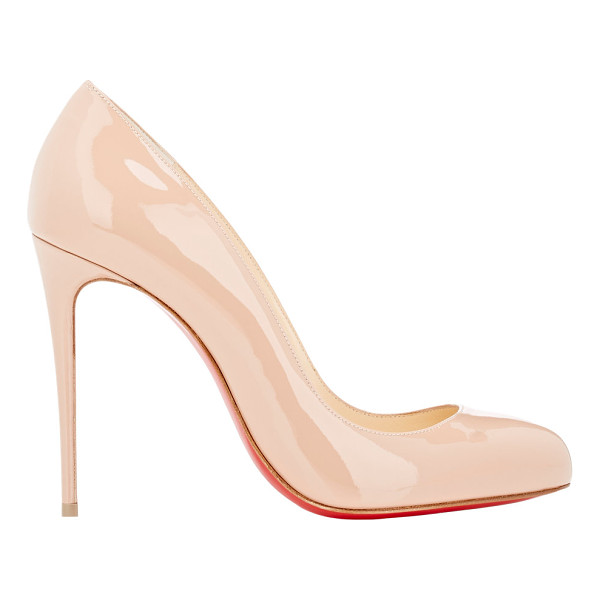 CHRISTIAN LOUBOUTIN Patent dorissima pumps-nude - Crafted of beige blush patent leather, Christian...