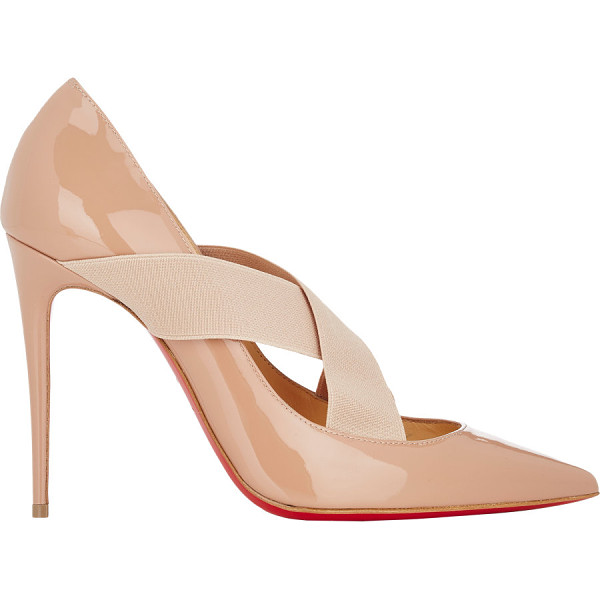 CHRISTIAN LOUBOUTIN Patent leather sharpstagram pumps-nude - Crafted of beige blush patent leather, Christian...