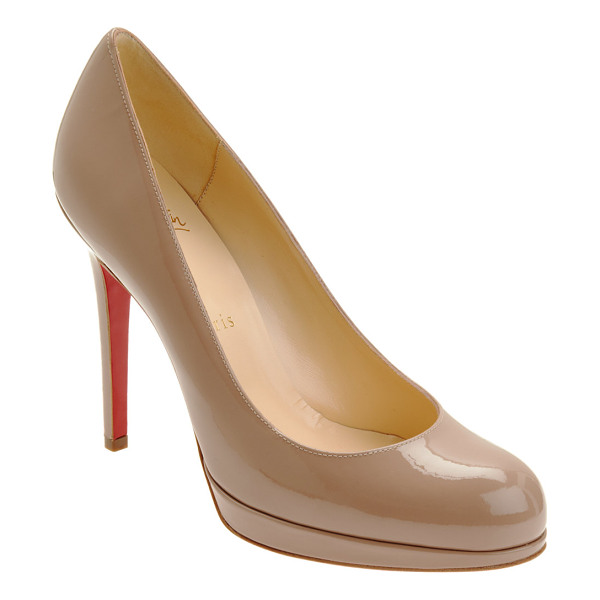CHRISTIAN LOUBOUTIN New simple platform pumps-beige, tan - Christian Louboutin beige blush patent calfskin New Simple...