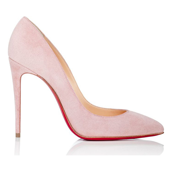 CHRISTIAN LOUBOUTIN Pigalle follies pumps-pink - Christian Louboutin rose suede Pigalle Follies pumps styled...