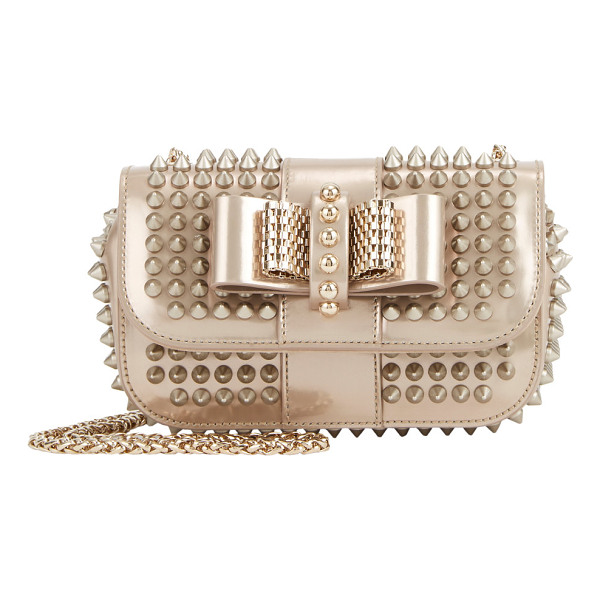 CHRISTIAN LOUBOUTIN Spiked sweety charity - Christian Louboutin bronze glazed-leather Sweety Charity...