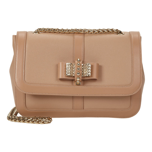 CHRISTIAN LOUBOUTIN Small sweet charity shoulder bag-nude - Christian Louboutin Nude leather small Sweet Charity...