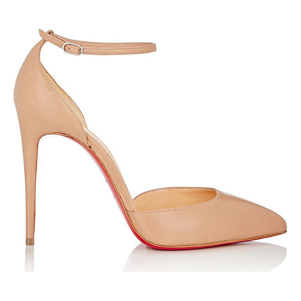 CHRISTIAN LOUBOUTIN Uptown ankle-strap pumps-nude - Christian Louboutin beige nappa leather Uptown d'Orsay...